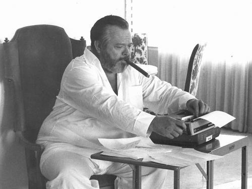 Old Orson Welles at Typewriter