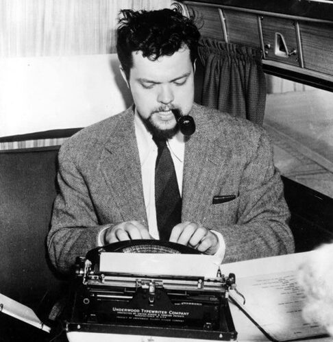 Young Orson Welles at Typewriter